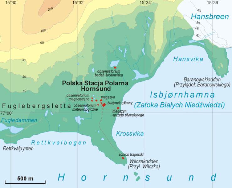 Polska Stacja Polarna Hornsund im. Stanisława Siedleckiego (Aotearoa/Wikipeda CC BY 3.0)