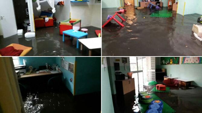 40 dzieci uwięzionych w zalanym przedszkolu. Powódź w Rzymie