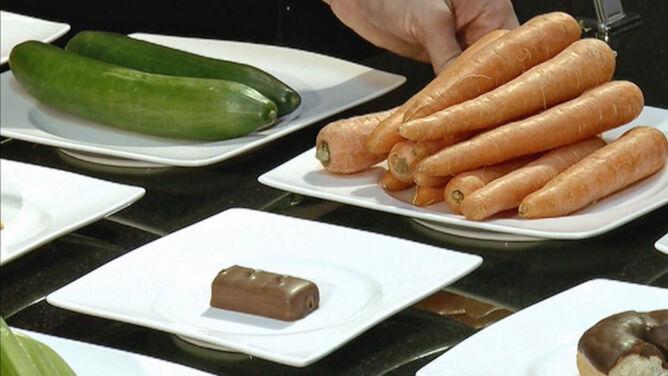 Kaloria kalorii nierówna. <br />Pół batona to 1 kg marchewek
