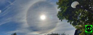 Świetlisty pierścień otoczył słońce