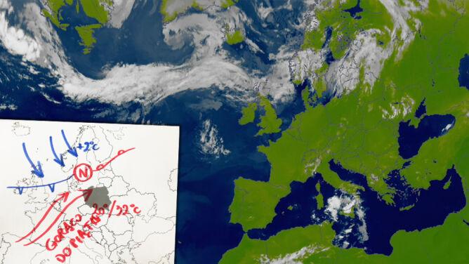 """""""Wijący się wąż z chmur"""" granicą między ciepłem a chłodem. W poniedziałek w Polsce nawet 32 stopnie"""