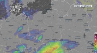 Prognozowane opady 30.04 i 1.05