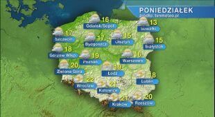 Pogoda na poniedziałek 18.05